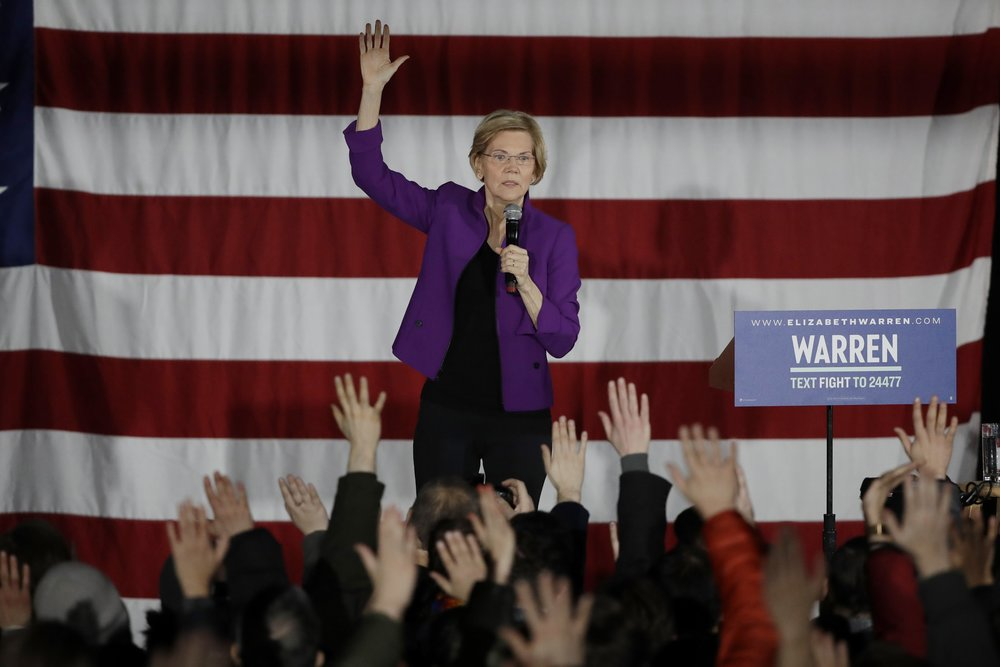 U.S. Sen. Elizabeth Warren visited Long Island City to campaign for president on Friday. AP Photo/Frank Franklin II.