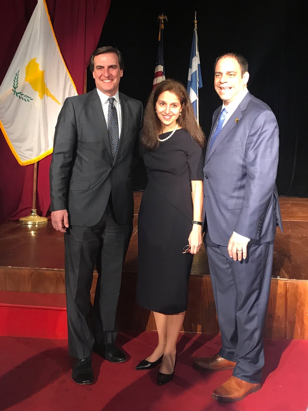 State Sen. Michael Gianaris (left), Assemblymember Aravella Simotas (center) and Councilmember Costa Constantinides are each of Greek descent.