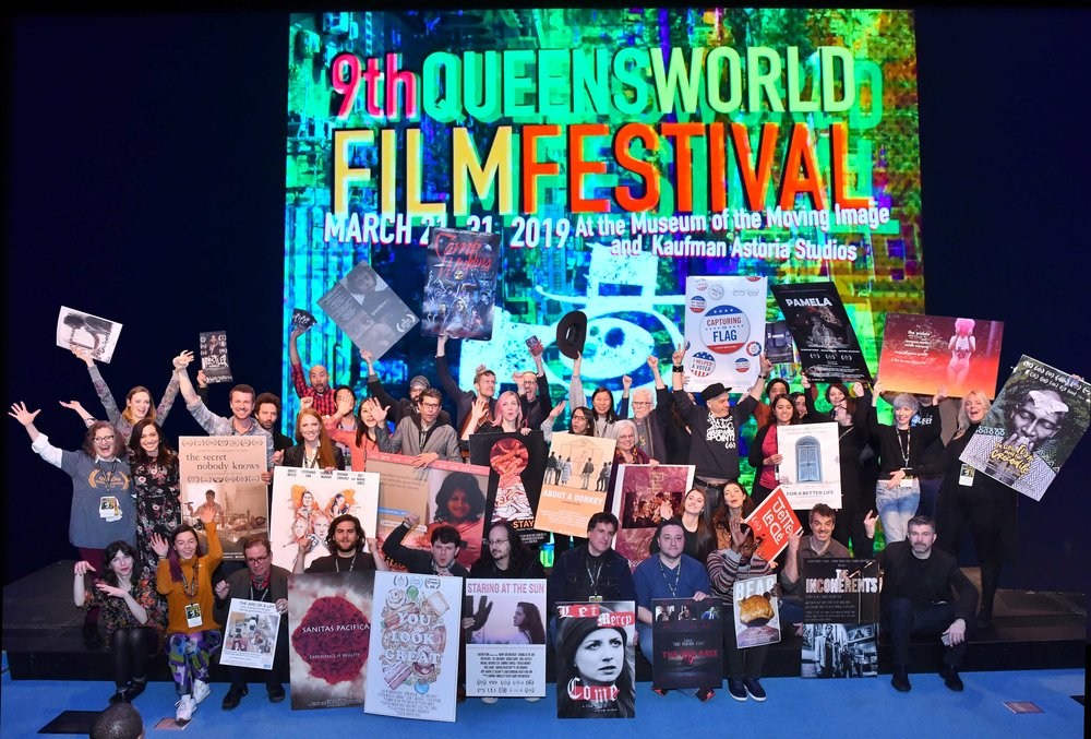 Filmmakers from around the corner and around the globe visited the Museum of the Moving Image to preview their films ahead of the 2019 Queens World Film Festival (QWFF), which began on Thursday night. Photo by Ken Brown for the 2019 Queens World Film Festival.