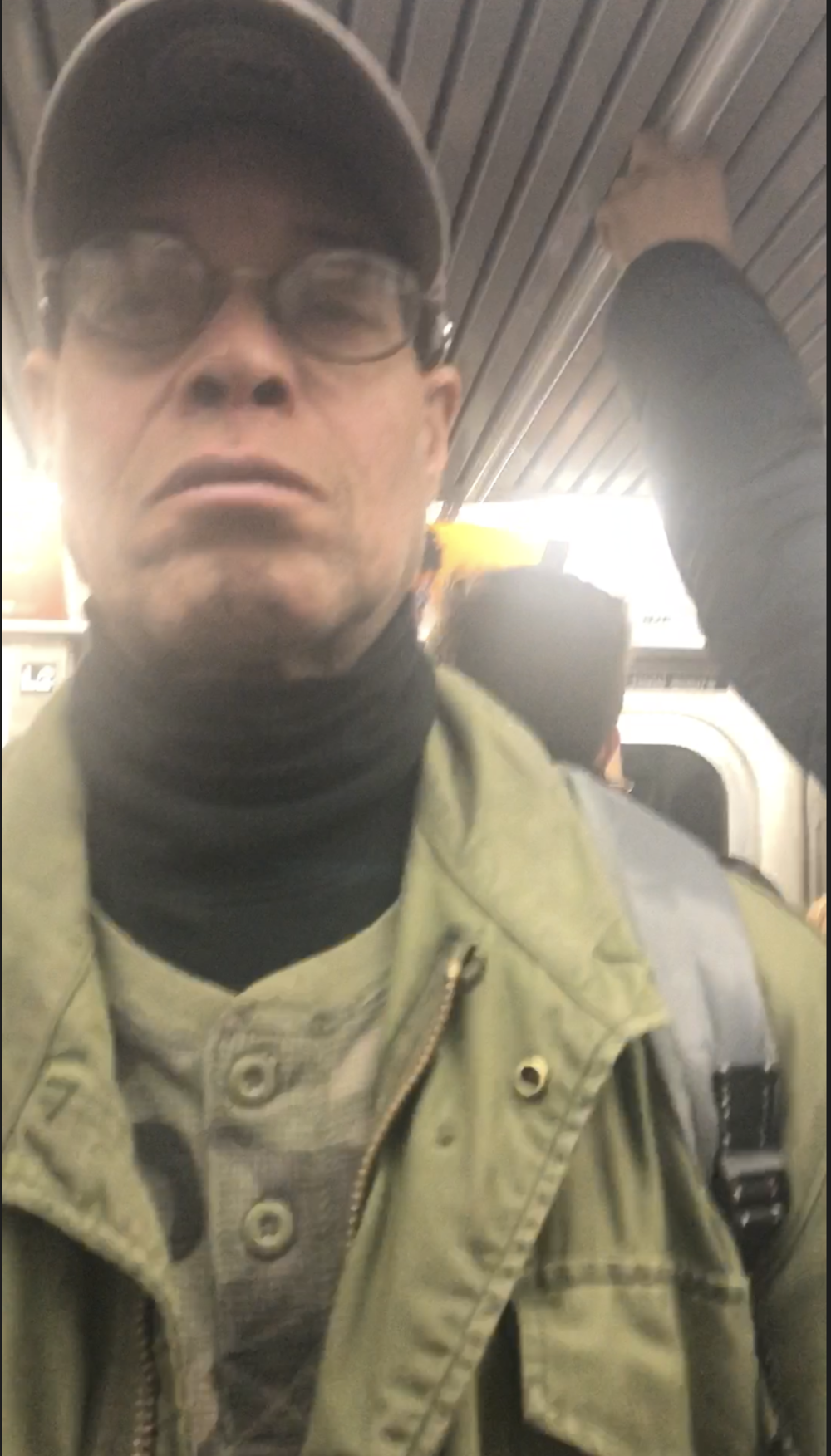 A cellphone photo of the suspect wanted for exposing himself to a woman on a Forest Hills E train. Photo courtesy of the NYPD.