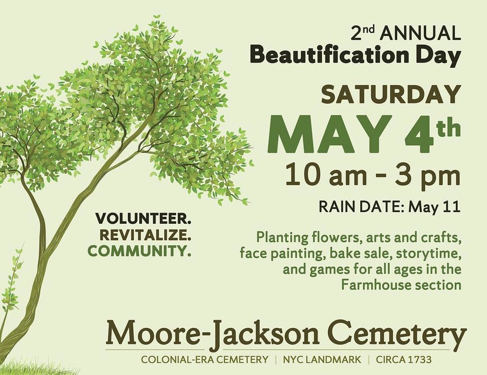 Volunteers are needed to participate in the annual beautification day at the historic Woodside cemetery. Image courtesy of the Moore-Jackson Cemetery.