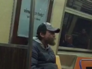 A photo of the man suspected of touching himself in front of a woman on the A train. Photo courtesy of DCPI.