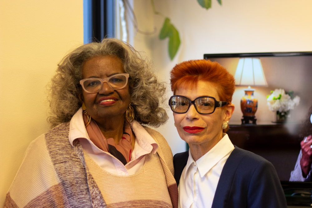 Janice Raiford, left, and Lillian Otero, right, met through the Home Sharing program.  Eagle  photos by Victoria Merlino.