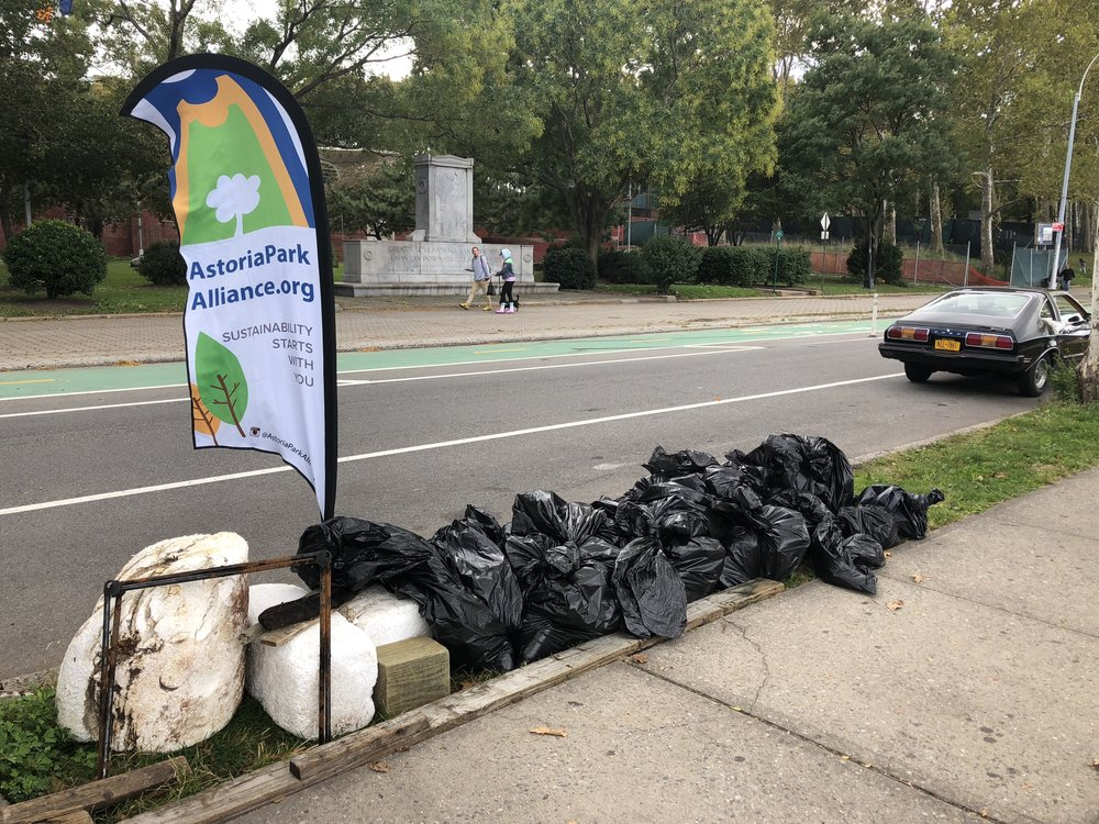 Just some of the trash that is cleaned up by volunteers at Astoria Park.