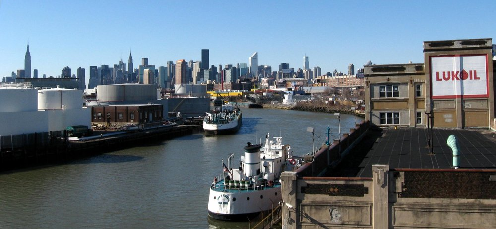 Newtown Creek, which straddles the border of Queens and Brooklyn, would stand to benefit from Nydia Velázquez's call for additional funds to Superfund sites.  Eagle  file photo by Cody Brooks.