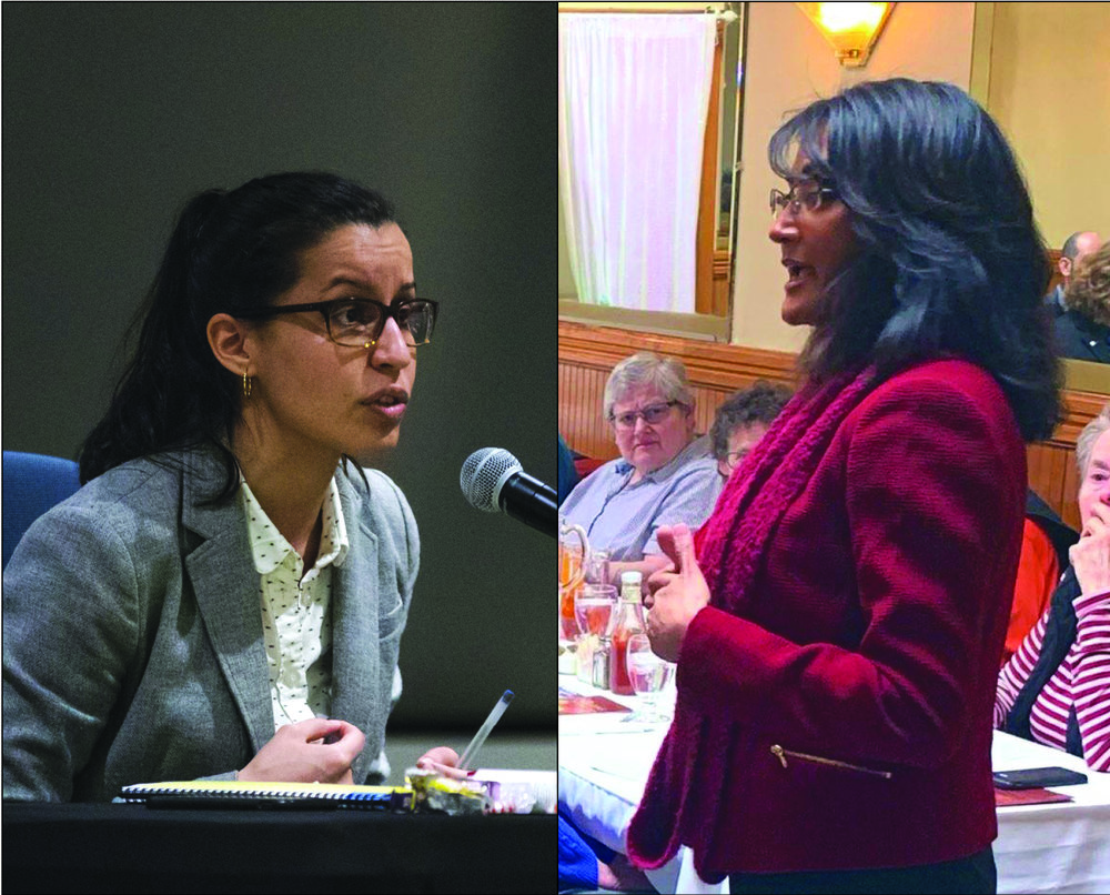 A political operative working for district attorney candidate Mina Malik filed an objection to the ballot petition submitted by fellow candidate Tiffany Cabán last week.  Eagle  file photo of Caban by Paul Frangipane; Photo of Malik courtesy of Malik's campaign