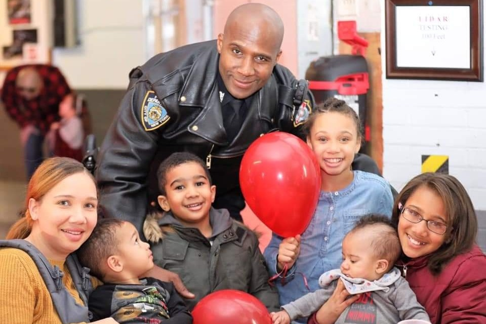 NYPD Officer Marc St. Arromand, a 14-year veteran of the police force, died in a motorcycle accident on the Belt Parkway on April 11. Photo via GoFundMe.