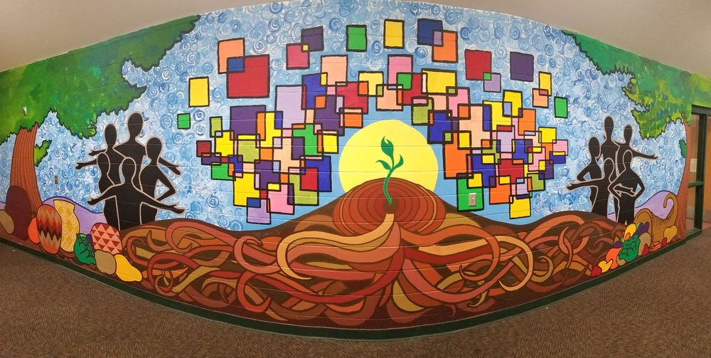 Healthy Eating Success Stories Mural by Arts Us youth  Sponsored by Blue Cross, Blue Shield Center for Prevention
