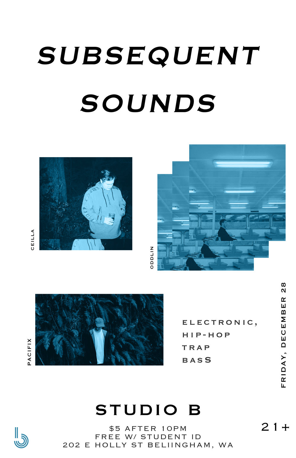 Copy of Subsequent Sounds: Pacifix, Oddlin, Ceilla