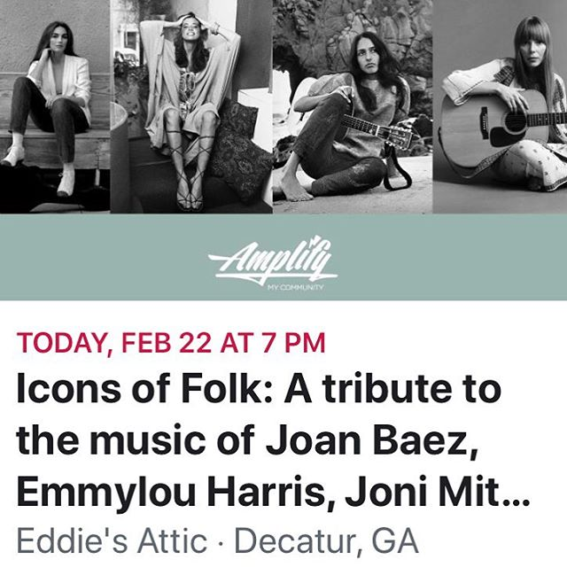 Looking forward to playing this great show for a great cause! I'll be paying tribute to Emmylou Harris  @amplifyconcerts @decatur_cooperative  @eddiesattic  #benefitconcert #emmylouharris #atlantamusicscene #singersongwriter #folkmusic #americanamusic