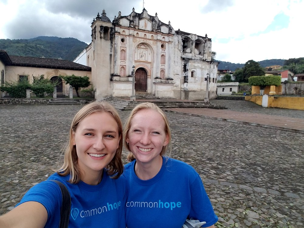 Team members exploring the local sights of Antigua, Guatemala.