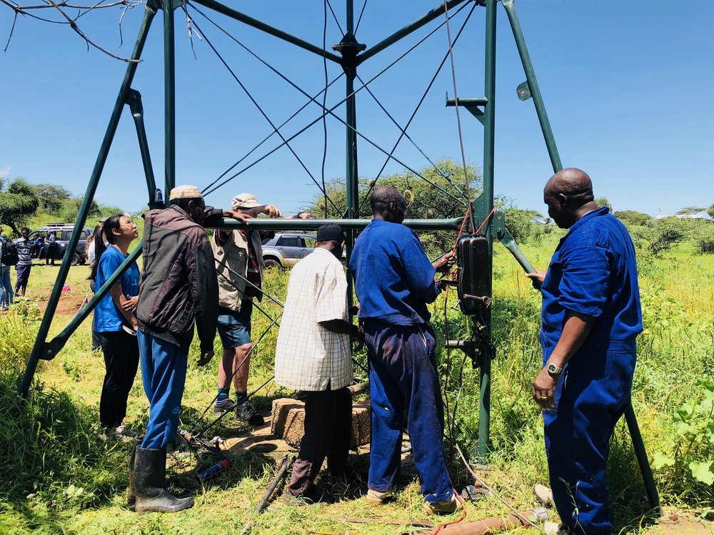 Working on assessing the broken windmill pump in Gambella Kenya, May 2018.