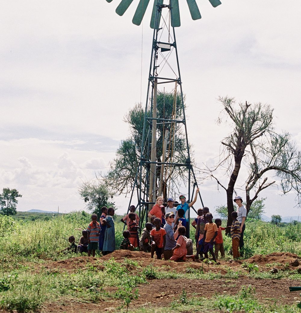 With the Kijito windmill in Gambella, Kenya.