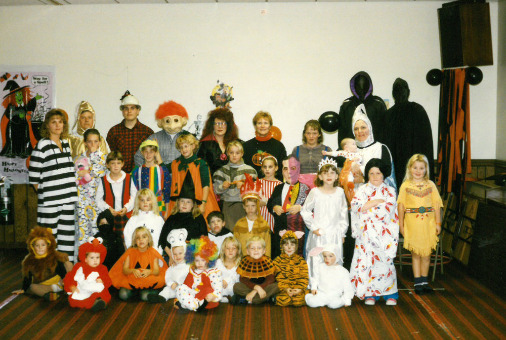 Grace Halloween Party in the Parish Hall, 1998.