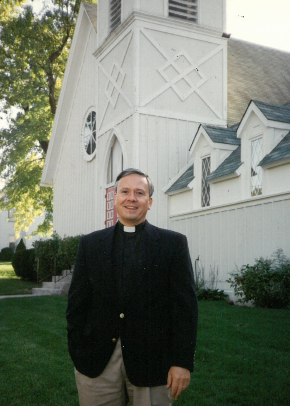 The Rev. James T. Nixon, Vicar from 1992-98, pictured here on the day of the Celebration of New Ministry in 1992.