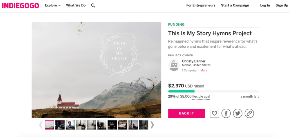 give to the cause - View our Indiegogo Campaign
