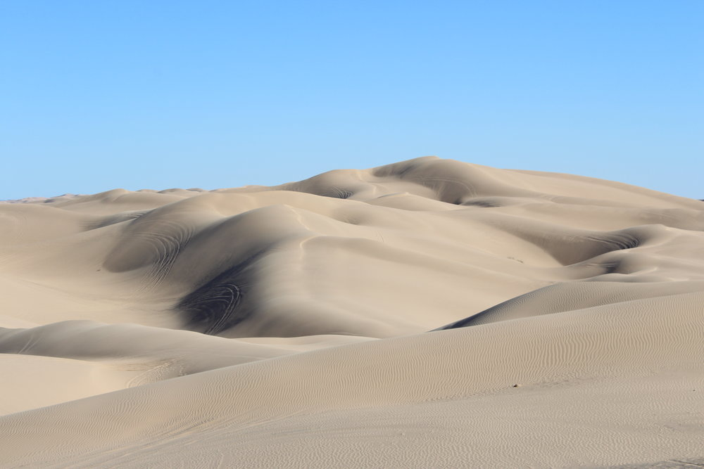The sand dunes at our campsite.