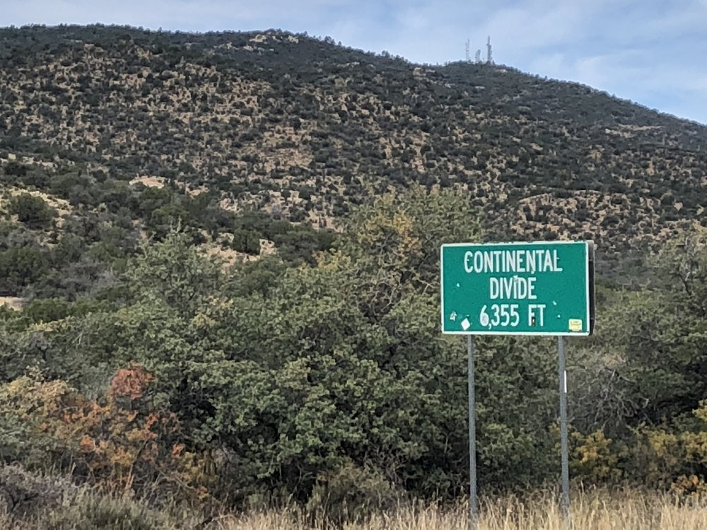 Continental divide.