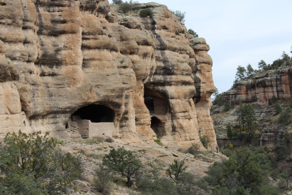 The cliff dwellings.