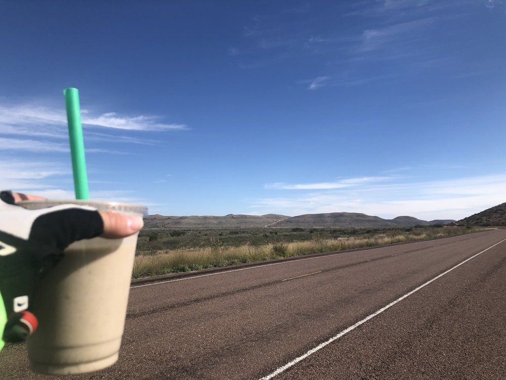 Smoothies in the middle of nowhere.