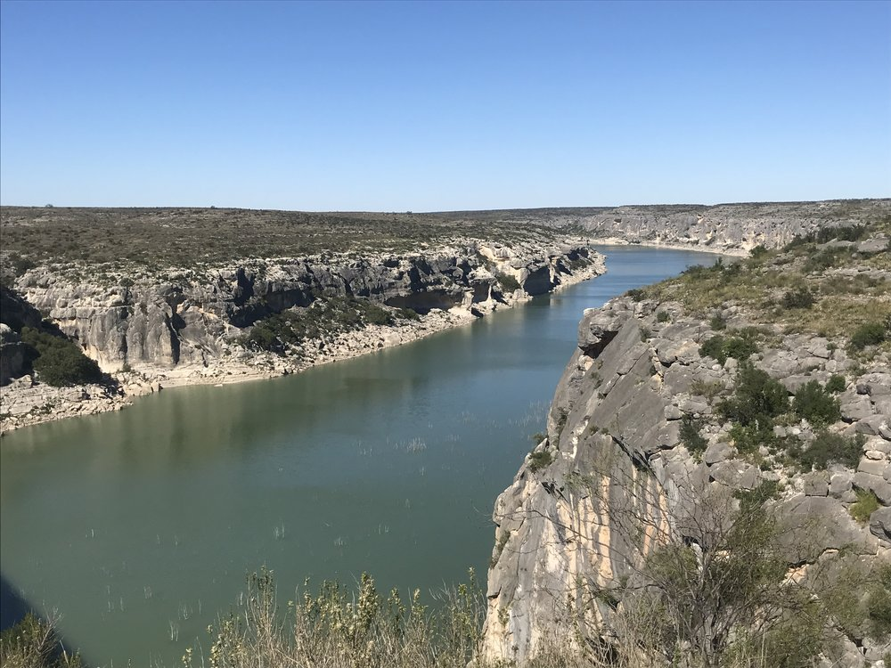 The Pecos River.