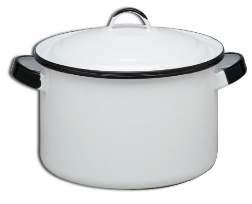 White Enamel Stock Pot, $31
