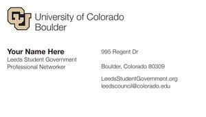Cu Business Cards Leeds Student Government