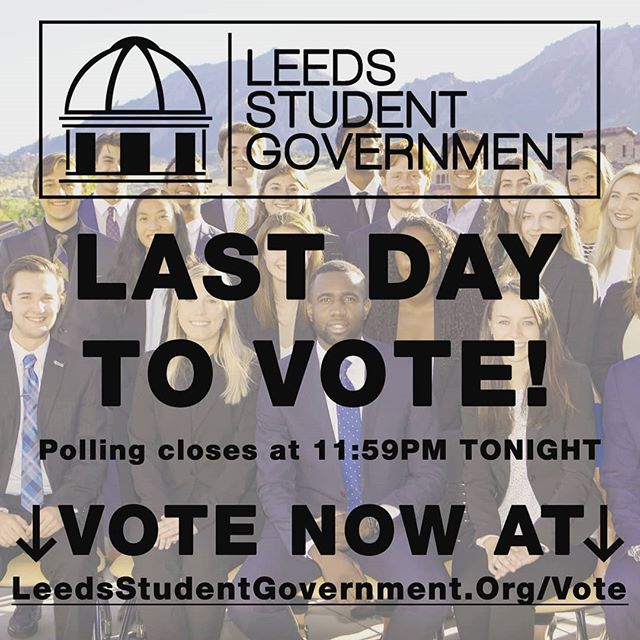It's the Final Countdown! Submit your vote before midnight tonight to elect your student representatives!