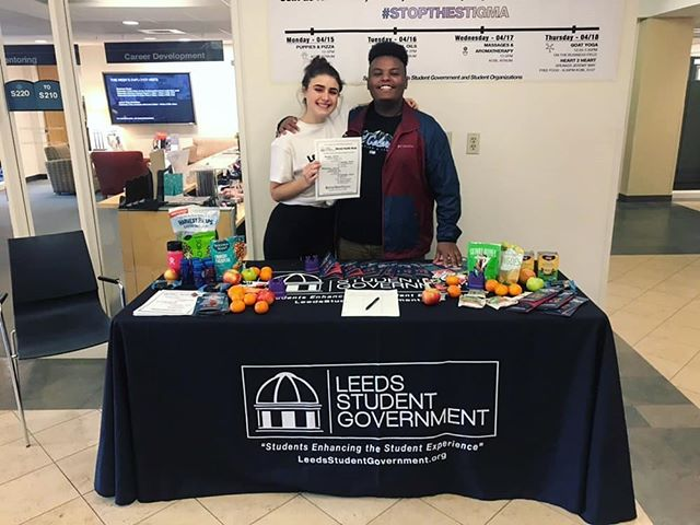 Day 2 of Mental Health Week was a success!  Visit us tomorrow in the atrium 12-2 for snacks, information, massages, and aromatherapy!