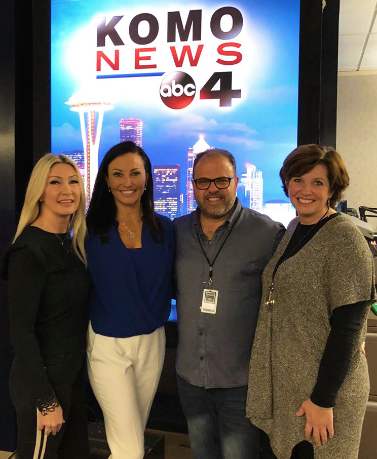 "(From Left): Stacy Jones, Britt Wibmer, Harry Chriest, and Sandra Hines were all smiles following a successful two-hour appearance on ""Own It."""