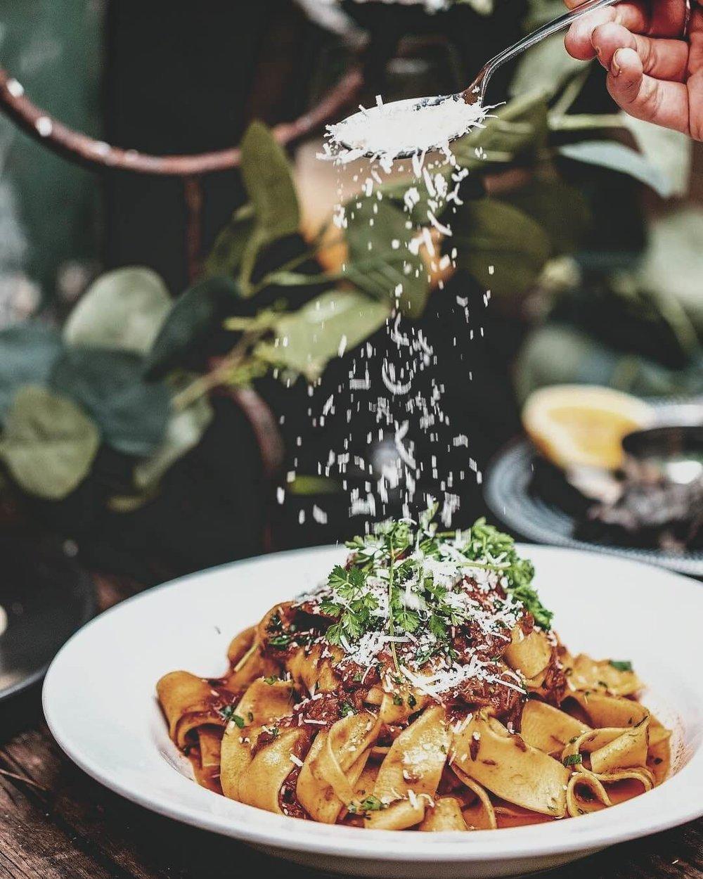 Pasta dish at Vino e Cucina, paddington in Sydney