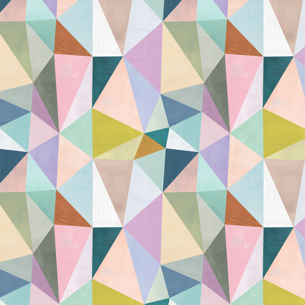 pastel triangles (pattern)