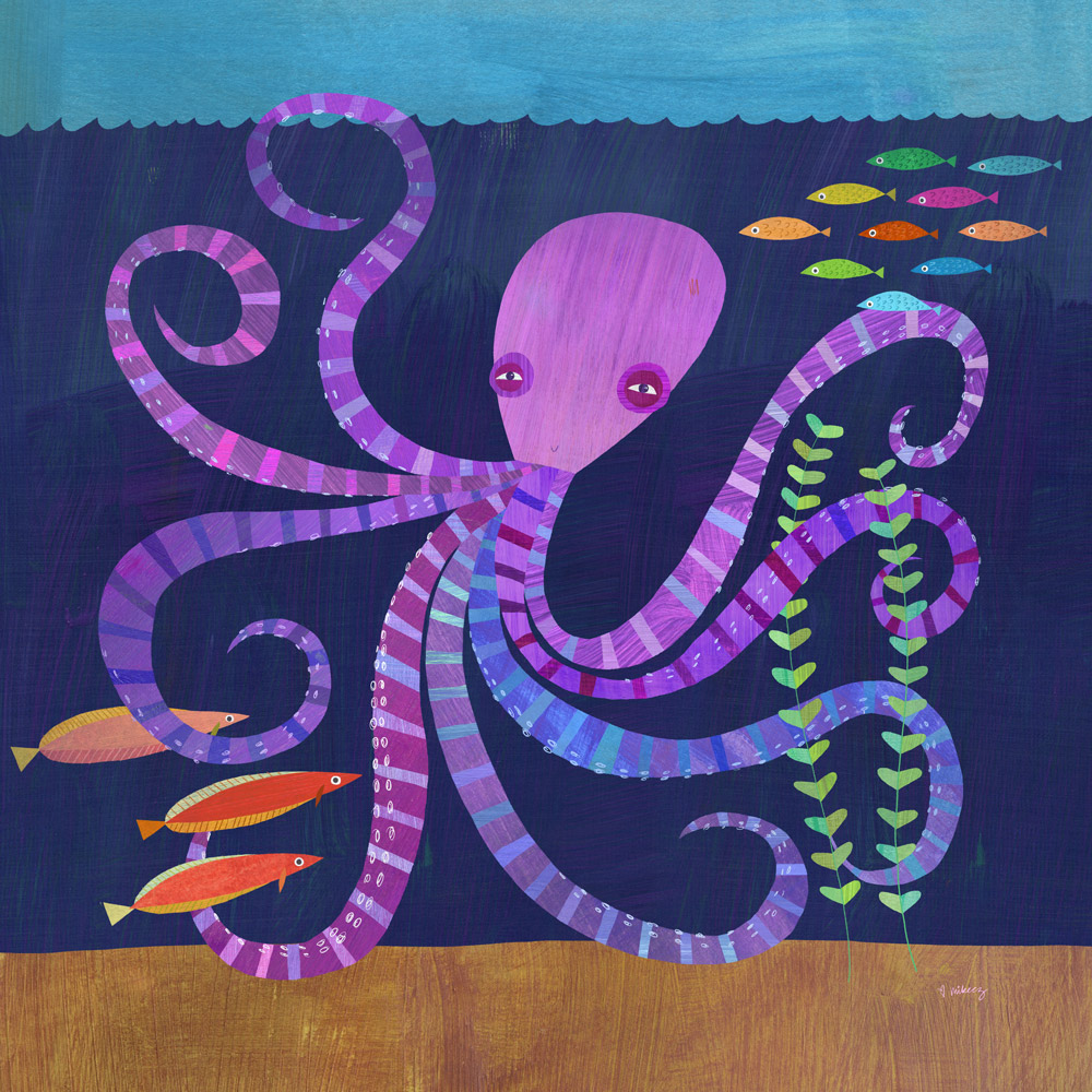 purple octopus