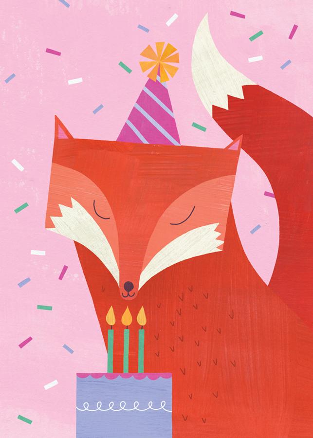 Sweet Birthday Fox