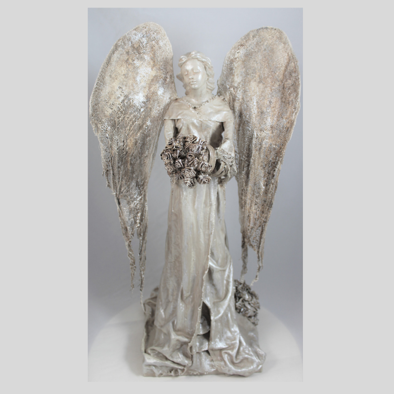 "Powertex Angel Workshop 27 April 2019 - Workshop 27 April 2019: $195: 9.30am to 4.30pmCome and enjoy a full day of Powertex products to make this beautiful Angel sculpture.You can choose the colour of your Angel, and whether you would like it to be a garden or home Angel. Let your imagination go.You will get to use a variety of Powertex products and tools.All materials and tools provided.Bring your own lunch and snacks; biscuits and refreshments are available.Remember to wear clothing you do not mind getting dirty or bring your own apron.Click on ""Link to Bookings Page"" , spaces are limited, or email me if you wish to do a Bank Transfer"