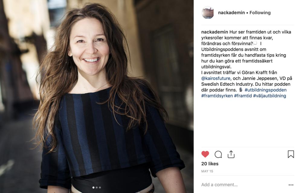 Jannie Jeppesen i Utbildningspodden #4 om framtidsyrken av Nackademin och Flip-Flop Interactive