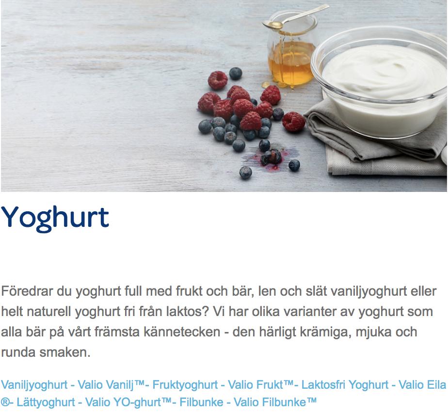 Valio.se Yoghurt