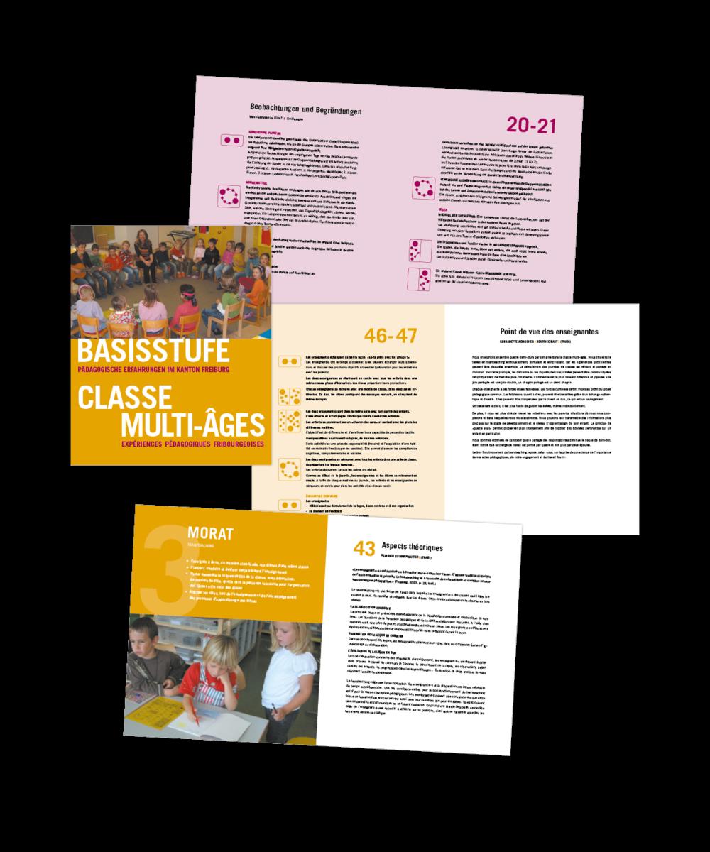 Basisstufe / Classe multi-âges  Expériences pédagogiques fribourgeoises  (brochure bilingue)
