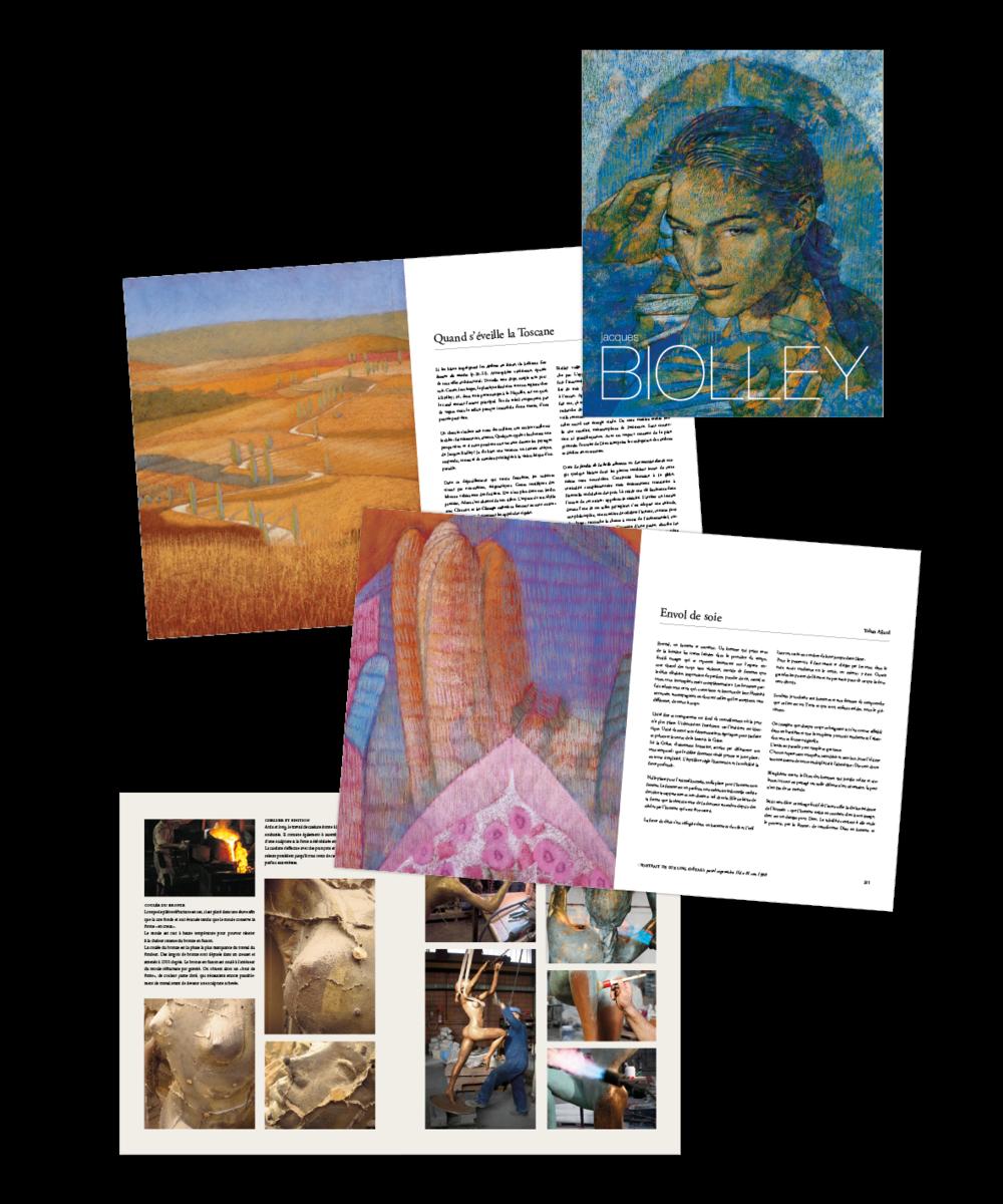 Jacques Biolley  Les couleurs d'une œuvre, livre d'art de 364 pages