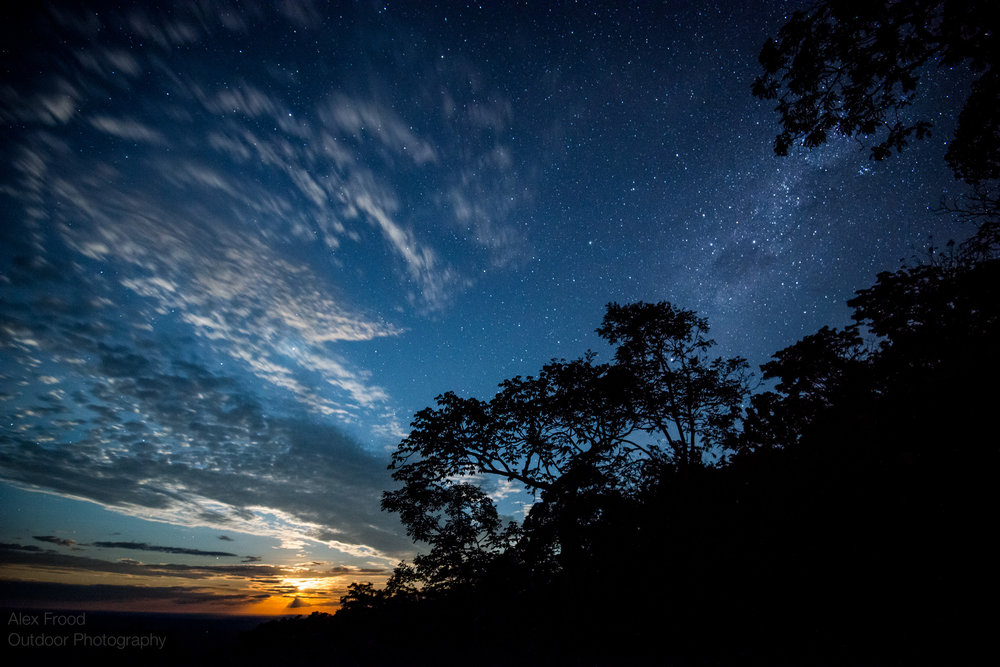 Milkyway and Moonrise over South Luangwa National Park, Zamiba