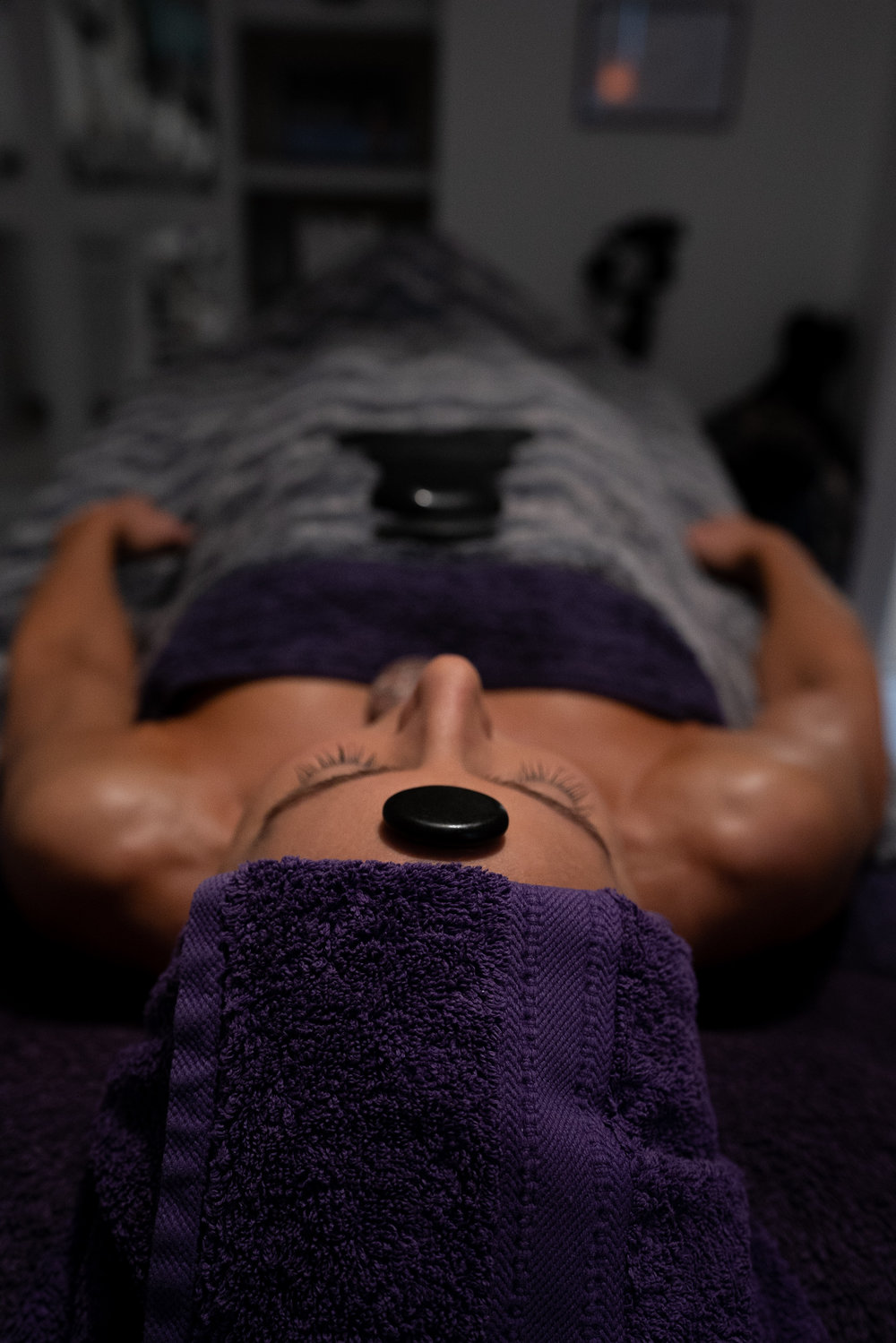 Holistic Beauty Academy treatment, hot stone massage