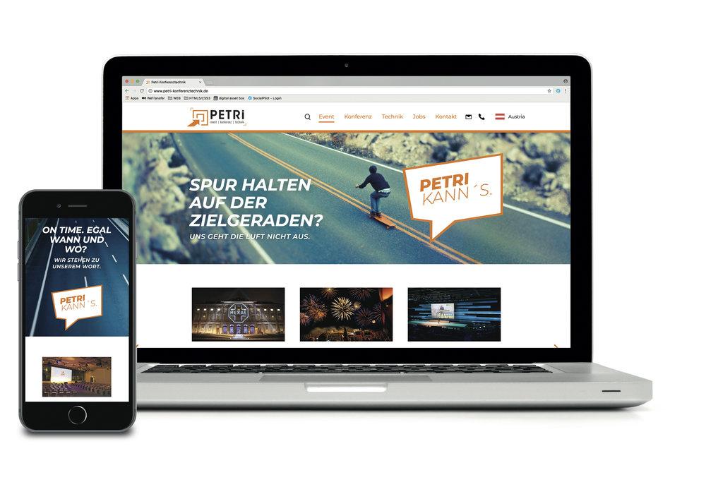 Petri Event – Rebranding Corporate Identity, Webdesign