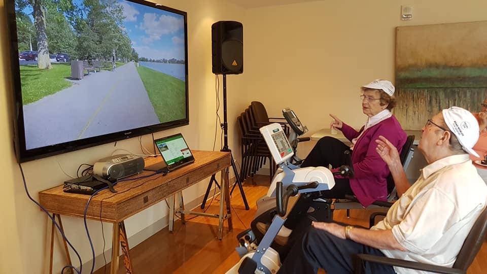 KLAR I CANADA: På Bryére Village i Toronto, er deltakerne klar for Sykkel-VM. (Foto: Motitech)