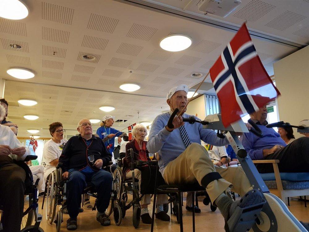 """ENORM INNSATS: """"Sykkel-VM for eldre"""" ble en kjempesuksess."""