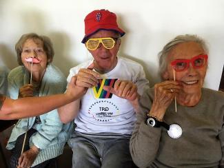 """MYE GLEDE: Det har vært mye glede under """"Sykkel-VM for eldre"""""""