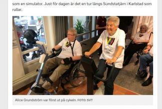 BESTE STØTTEAPPARAT: Resurscentrum Rosenbad Karlstad får prisen VMs støtteapparat. (faksimile SVT)