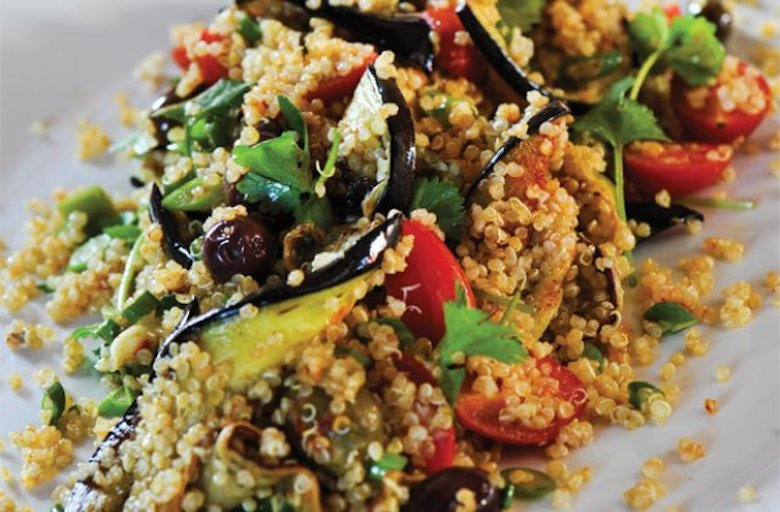spiced-quinoa-couscous-and-eggplant-trupps
