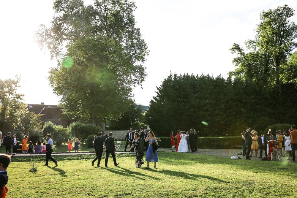 Réception jardins à la française Château de Taisne