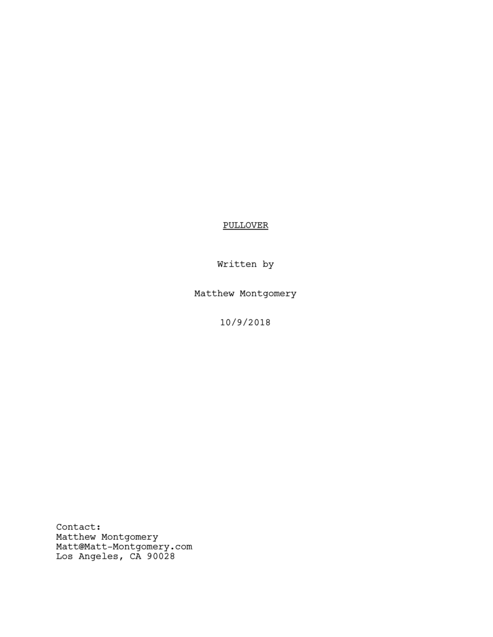 Pullover - Feature Film