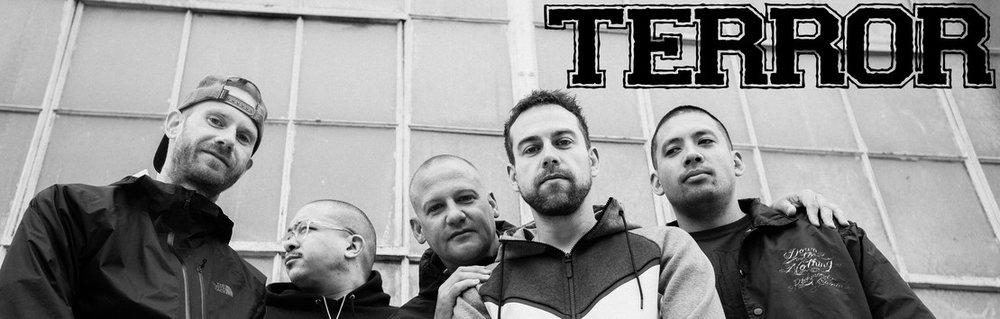 Terror is Scott Vogel, Nick Jett, Martin Stewart, Jordan Posner, and Chris Linkovich